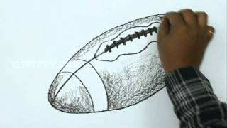How to Draw a Rugby Ball