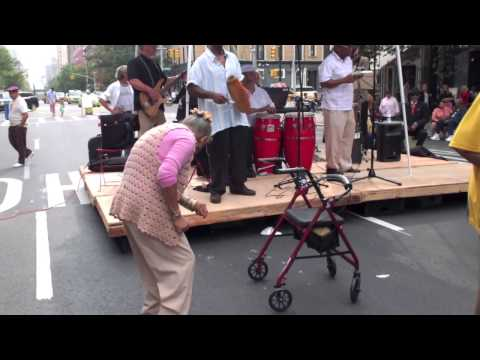 90 year old woman Salsa dancing NYC