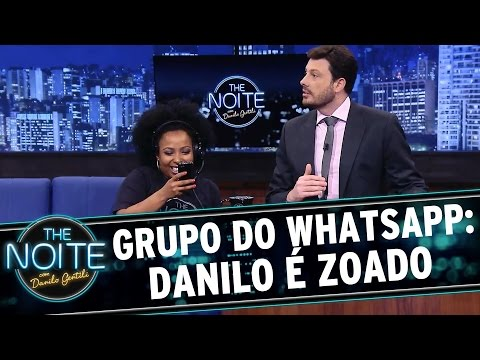 The Noite (04/11/15) - Grupo Do The Noite No Whatsapp: Danilo é Zoado