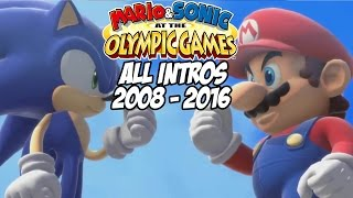 Mario & Sonic at the Olympic Games - All Intros 2008 - 2016 ( Wii, Wii U)