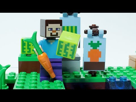 Lego Minecraft Steve Brick Building Small Farm