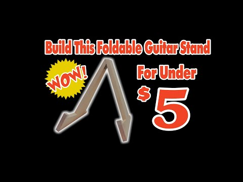 Build this guitar stand for under $5 !!!