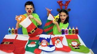 Don't Choose the Wrong Christmas Stocking Slime Challenge