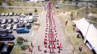 Magunatip Dance :: Malaysia Book of Record - Aerial Video