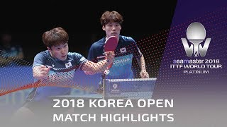 JANG Woojin/LIM Jonghoon vs HO Kwan Kit/WONG Chun Ting | 2018 Korea Open Highlights (Final)