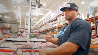 Off-Season Grocery Shopping with 300lb Pro Bodybuilder Juan Morel