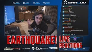 Twitch Livestreamers reacts to earthquake live. Streamers React To CALIFORNIA EARTHQUAKE 7.1 Magnitude Quake! (CAUGHT LIVE)