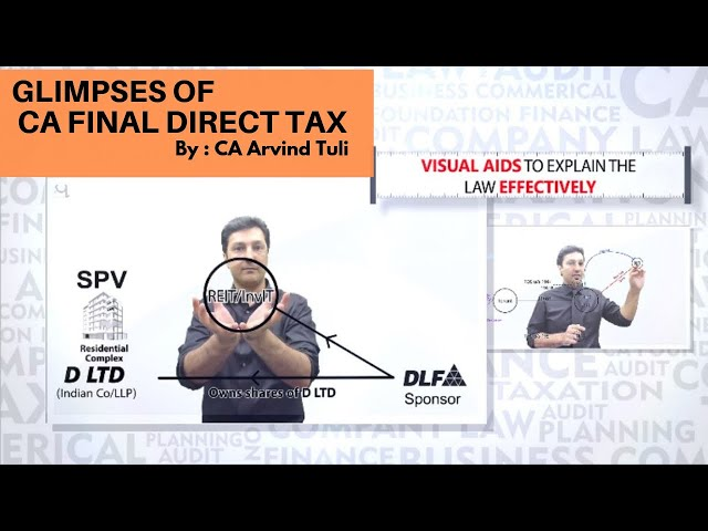 CA Final Direct Tax Laws   By CA. Arvind Tuli   in English   Glimpses of the Course