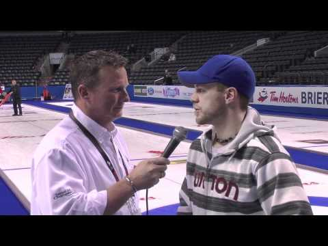 2011 Tim Hortons Brier - One on One with Jim Cotter