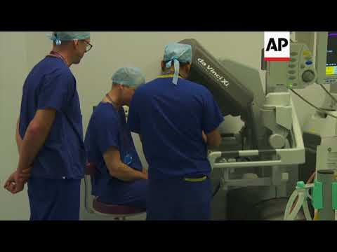 Duke of Cambridge views robotic surgery procedure at Royal Marsden