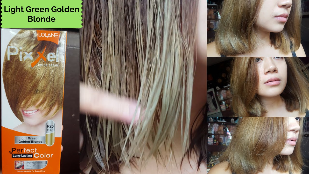 How I Dye My Hair Lolane Pixxel In Light Green Golden Blonde