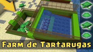 MINECRAFT: COMO FAZER UMA FARM DE TARTARUGAS (FÁCIL E EFICIENTE) - TUTORIAL