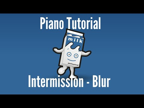 Piano Tutorial - Intermission by Blur