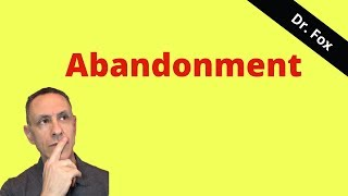 Fear, Pain, and Abandonment and Borderline Personality Disorder