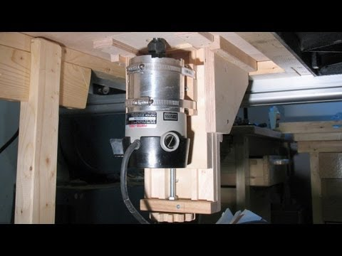 Wooden router lift