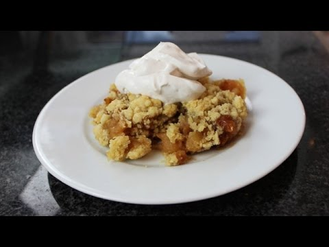thermomix apple crumble vegan youtube. Black Bedroom Furniture Sets. Home Design Ideas