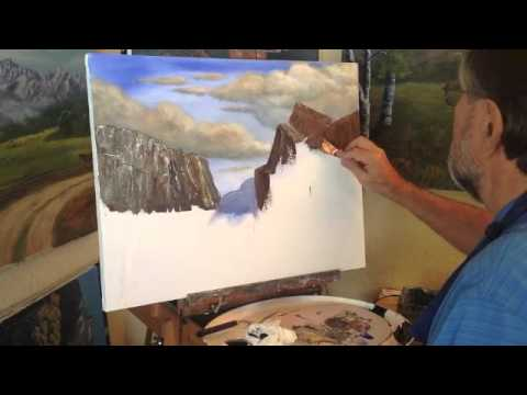 How To Paint A Mountain With A Palette Knife Part 3 Youtube