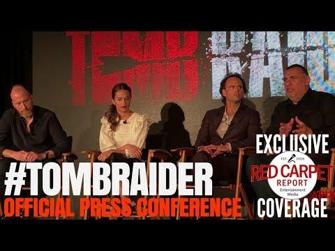 "Alicia Vikander, Walter Goggins, Roar Uthaug, Graham King talk about ""Tomb Raider"" #PressConference"