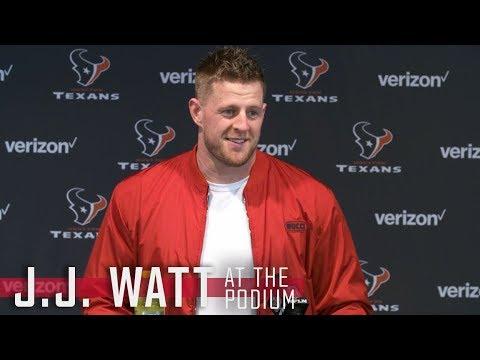 J.J. Watt Talks Coming Back || Houston Texans Wild Card Victory