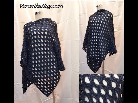Stricken Poncho Schulterponcho Veronika Hug Youtube
