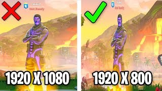 I tried the *NEW* STRETCHED RES that WORKS in Fortnite! (MORE FOV IN GAME)