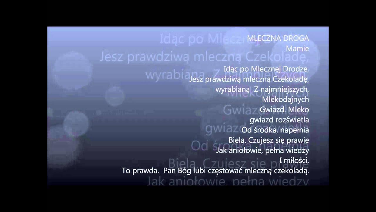 Muriel Kordowicz Czyta Swój Wiersz Mleczna Droga