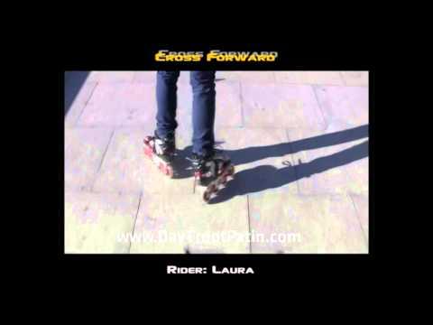 Slalom Tricks - Bài 2 - Kỹ thuật trượt patin lượn cốc Cross forward - www.DayTruotPatin.com