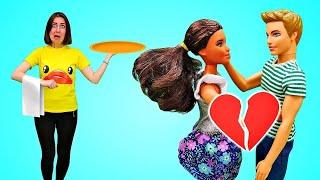 Куклы Барби в кафе - Любовные разборки. Видео для девочек - Я не хочу в школу 16
