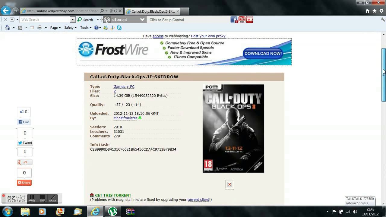 piratebay call of duty mw3