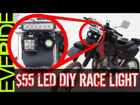 How to Install the $55 Super Bright LED Dirt Bike Headlight