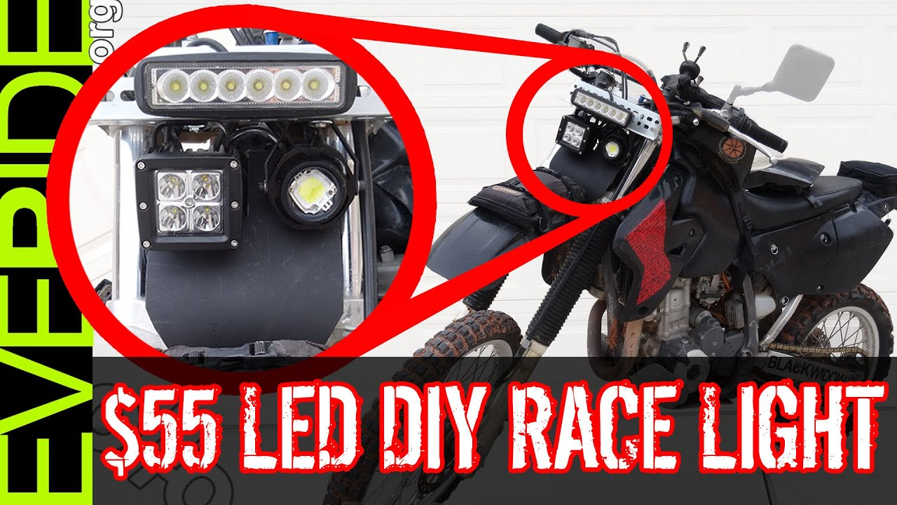 Motorcycle Led Kit >> How to Install the $55 Super Bright LED Dirt Bike Headlight Mod o#o - YouTube
