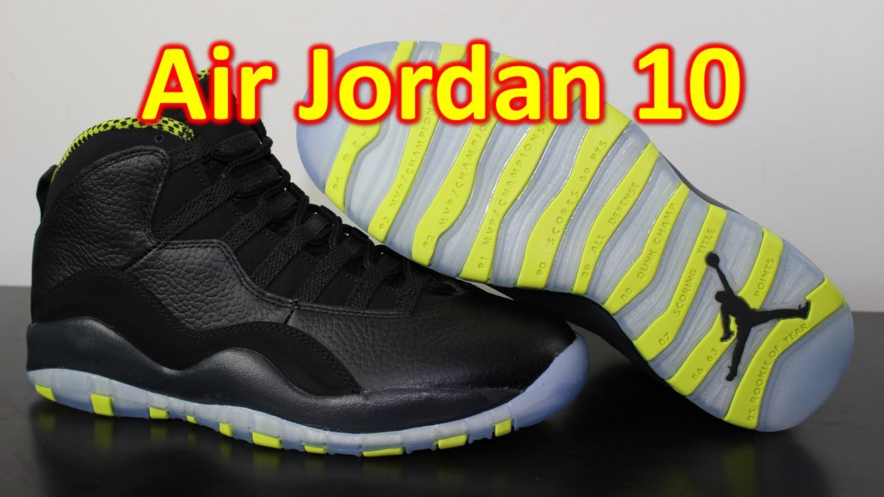 e49e6123d310 Air Jordan 10 Retro Venom Green - Review + On Feet - YouTube