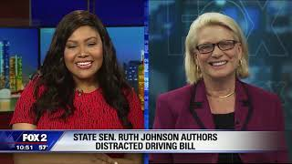 Sen. Johnson speaks with Fox 2 Detroit about Distracted Driving