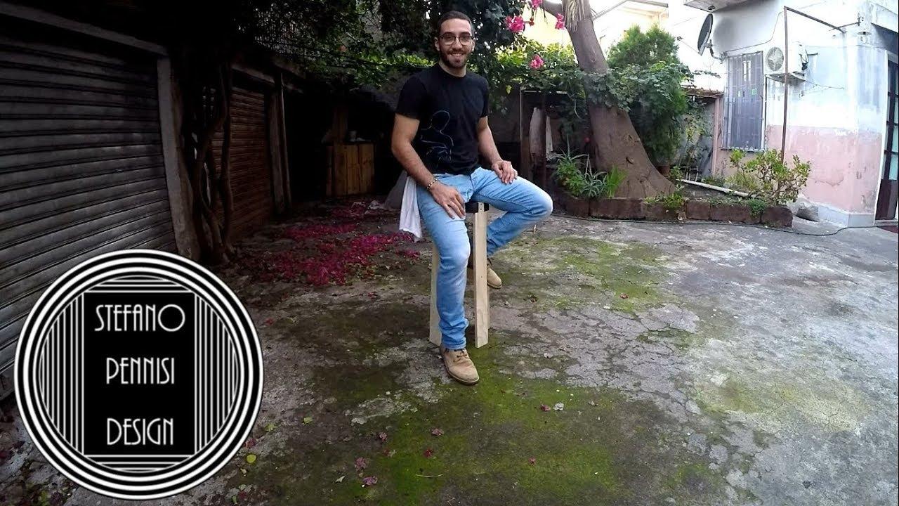 Costruire Uno Sgabello Da Bar In Legno : How to make a stool from scrapwood come fare uno sgabello con