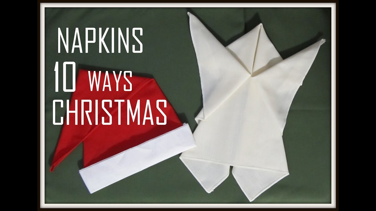 How To Fold Napkins For Festive Christmas Dinner Table Setting ... | 720x1280
