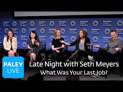 Late Night with Seth Meyers - What Was Your Last Job?