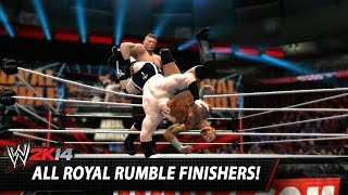 wwe 2k14 all royal rumble finishers