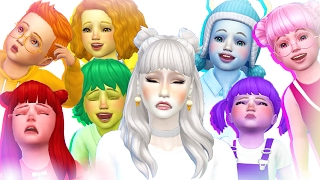 7 Toddler Challenge : CAS  - The Sims 4 ❤