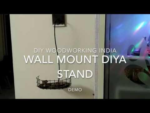 Wall mount diya stand diy - DIY woodworking India