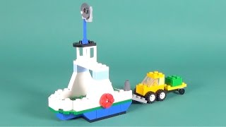 Lego Cargo Boat with Truck Building Instructions - Lego Classic 10702