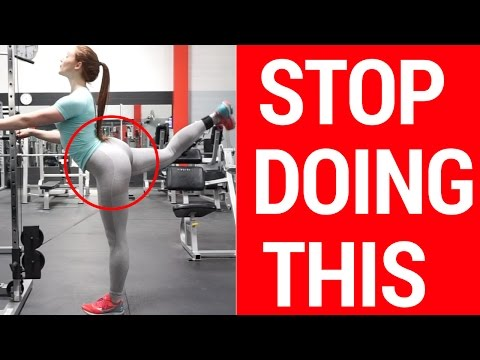 You're Doing It WRONG | Cable Kickback Booty Workout | Abby Pollock