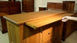 Amish Furniture Martinique Server Buffet With Self Closing Server Tray Option