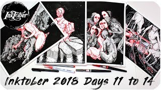 Inktober 2018 Days 11 to 14 - Prints? Originals? Booklets? What does my work mean?