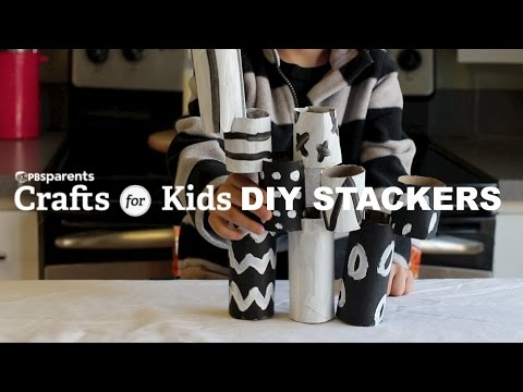 Cardboard Stackers | Crafts for Kids | PBS Parents