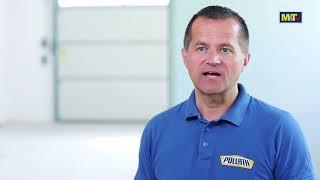 видео Секционные гаражные ворота немецкого производителя  «Hormann».