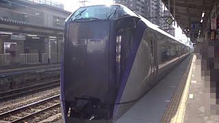 3079【FHD30p】JR東日本 E353系 中央線 [特急]スーパーあずさ22号 甲府→新宿 車窓・走行音 '18年8月12日