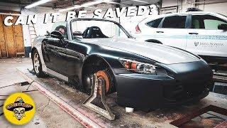 Wrecked Honda S2000 Rebuild   Frame Repair   EP #2   4K