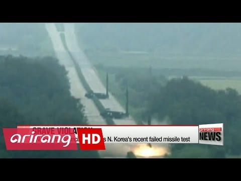 UN Security Council condemns N. Korea's failed ballistic missile test