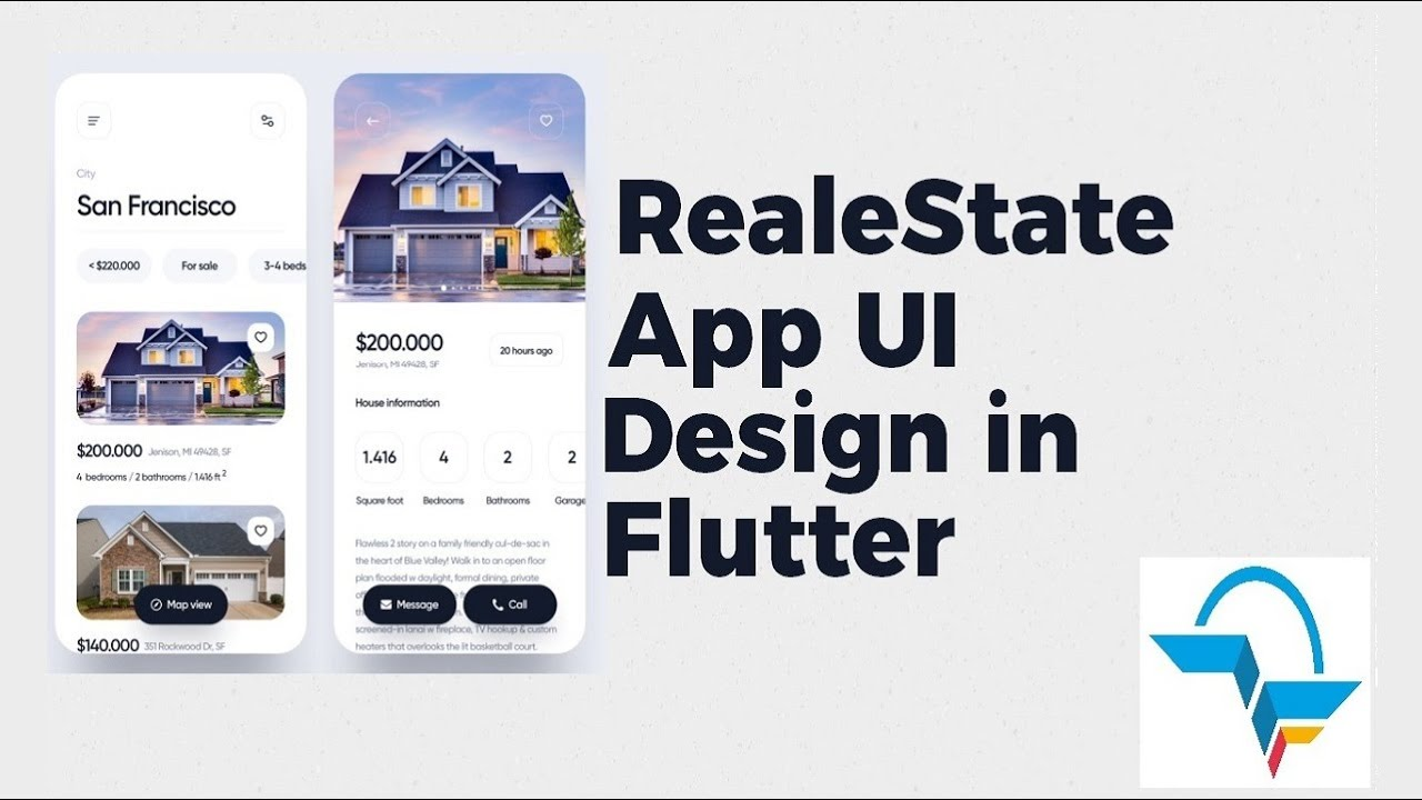 Real Estate App UI in Flutter | Flutter Tutorial | Speedcode | Flutter Agency