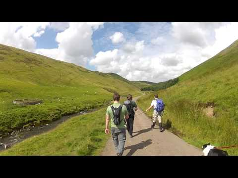 Hiking in the Cheviot Hills